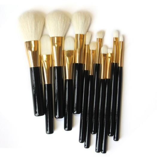 12pcs professional Natural/Synthetic hair makeup brush set