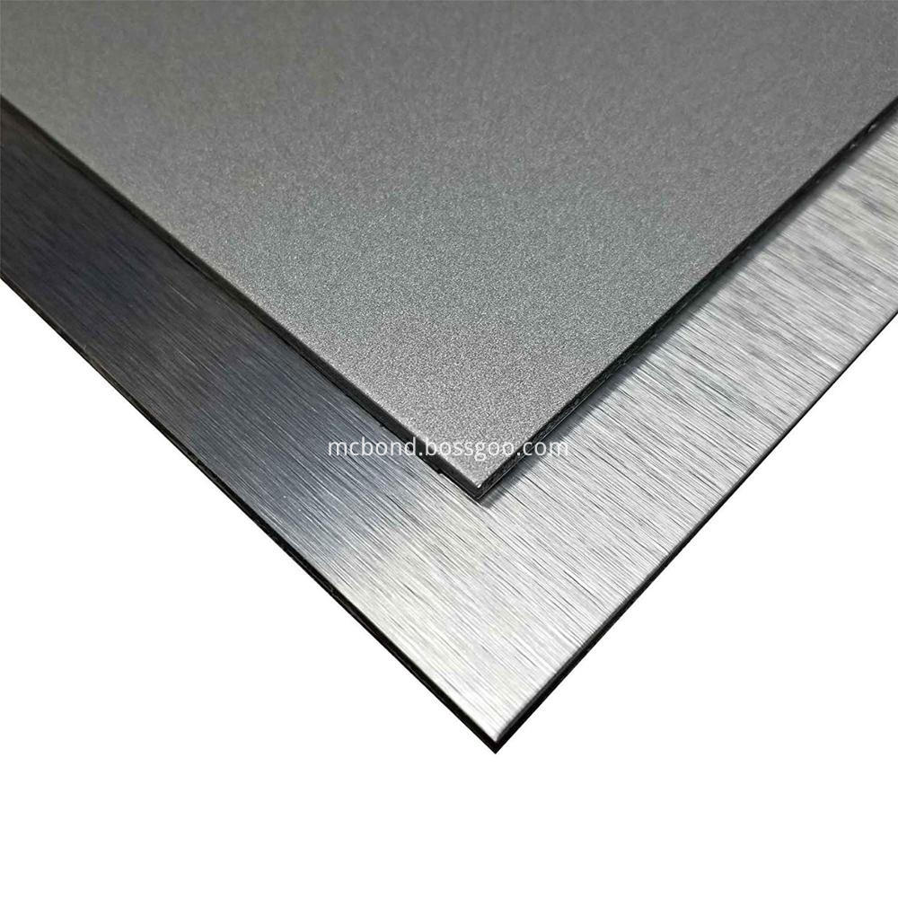 Silver Brushed Alucobond Acm 2mm 3mm Pvdf
