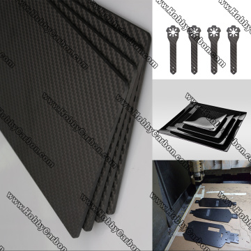 0.5x250x400 decorative surface carbon glass sheets