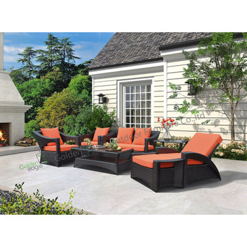 PE Wicker Furniture Outdoor Patio Wicker Sofa