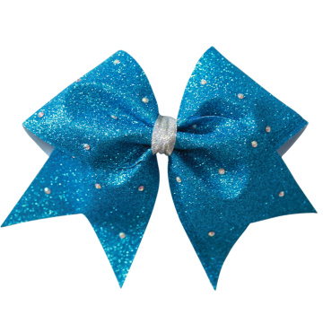 Customizable pure colors cheer hair bows
