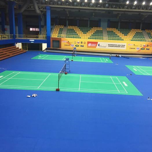 BWF approved pvc badminton sports court floor