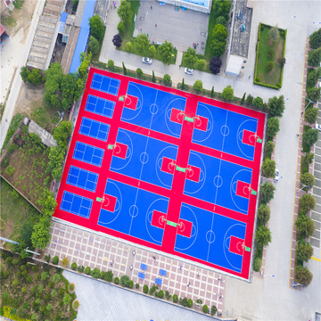 PP Court Tile Floors for Outdoor Basketball Court