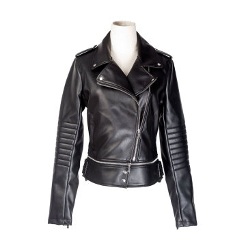 Women`s PU biker jacket