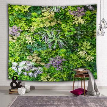 Green Plants Wall Tapestry Leaves Forest Nature Tapestry Wall Hanging for Livingroom Bedroom Dorm Home Decor