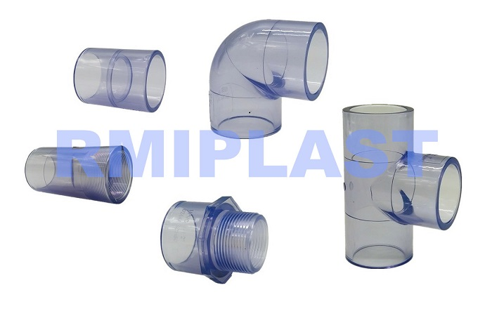 clear pipe fitting PVC