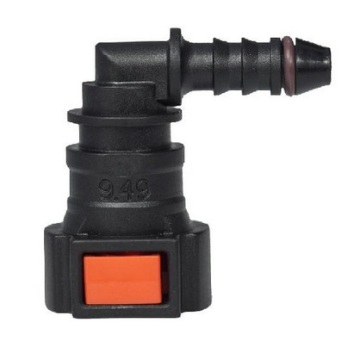 Urea SCR System Quick Connector 9.49 (3/8) - ID6 90° SAE