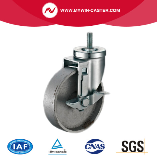 Plate Rigid Cast Iron Medium Duty Caster Wheels