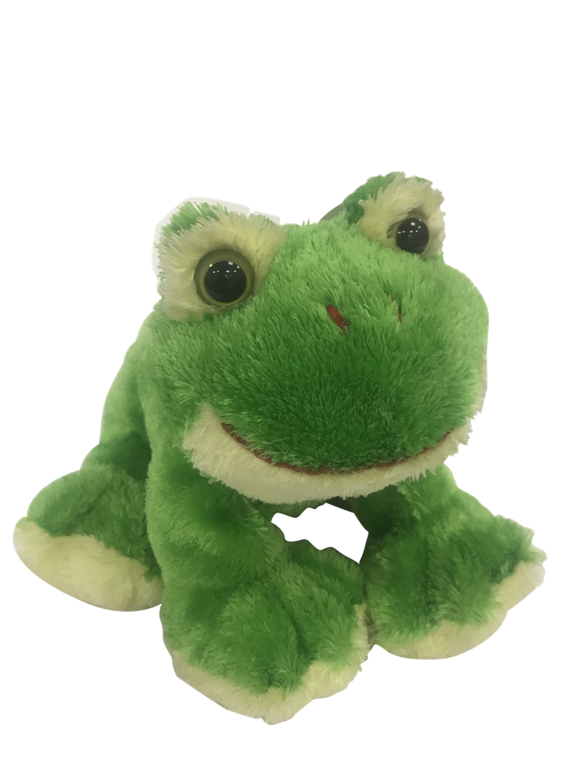 Green Plush Frog for Baby