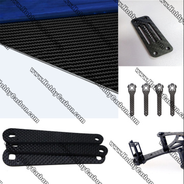 3K CNC carbon fiber parts for quadcopter/ drone
