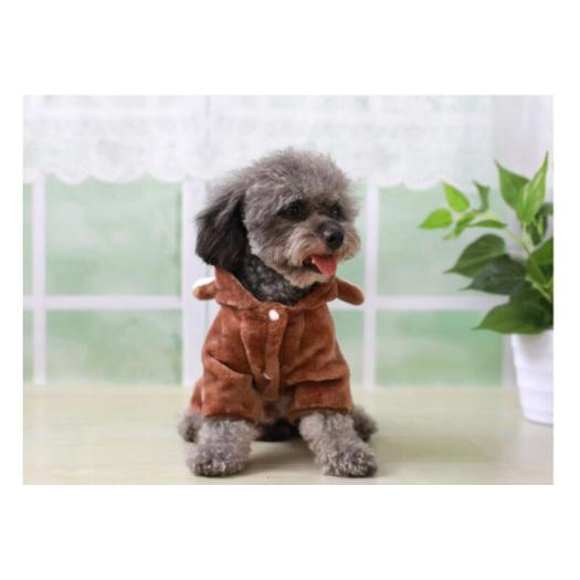 Flannel autumn and winter four-legged dog clothes