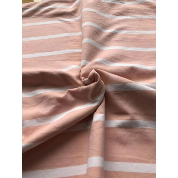 pink stripe yarn dyed polyster fabric