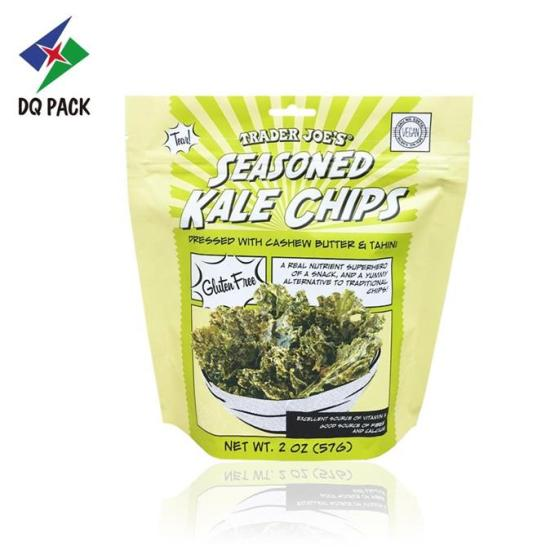 Kale Chips Stand Up Pouch With Zipper