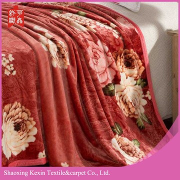 super warm  piping edge flannel fleece blanket