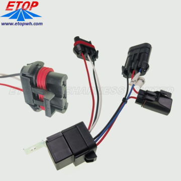 Customized wire harness Automotive Relay Switch Weatherproof 30 amp 12V Wiring Harness