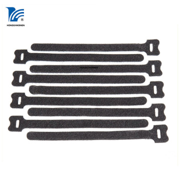 Adjustable Retractable Sticker Cable Tie Black