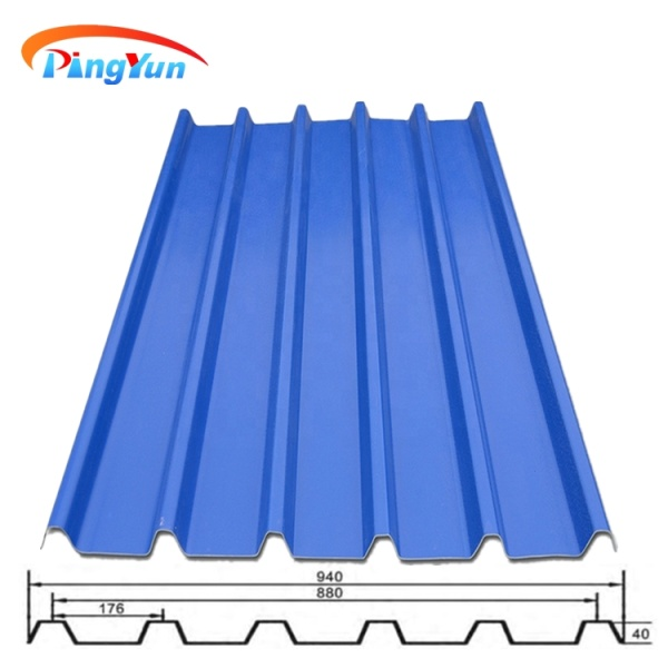 UPVC recycled plastic roofing sheet
