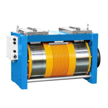 Ø265 Gearless Elevator Traction Machine , Permanent Magnet Synchronous Diana