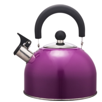 1.5L Stainless Steel color painting Teakettle purple color