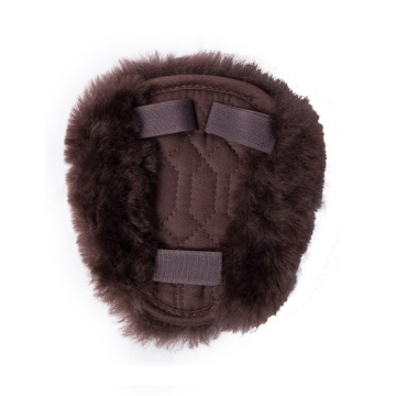 Brown sheepskin Breastplate for Horse