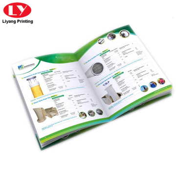 Colorful brochure catalogue of products printing service