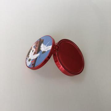 3D pattern mini round compact case