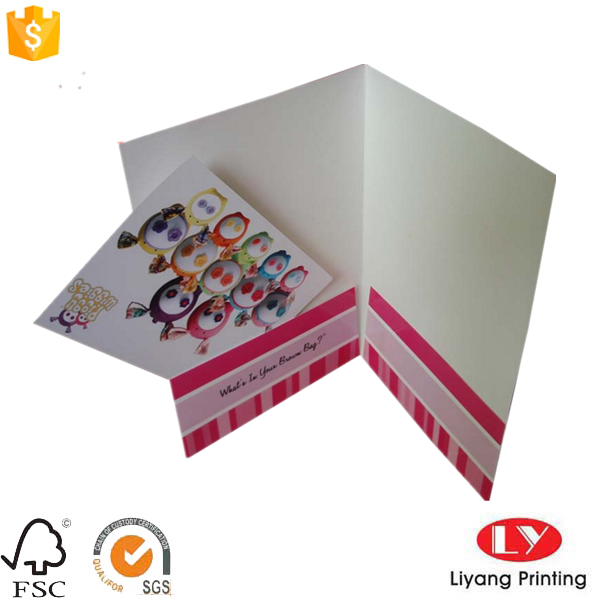 Office paper file folder with pocket printing