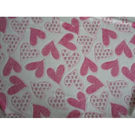 Embossed coral fleece baby cloth fabric