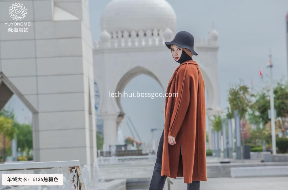 Caramel Color Row Buckle Coat
