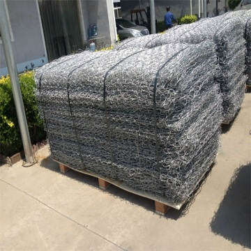 Zn+Al coated wire mesh gabion basket