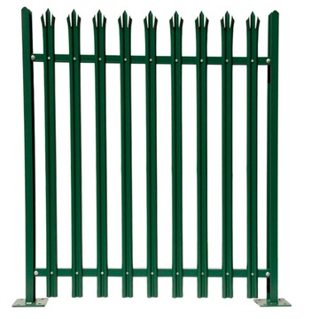 Cost Effective Price Galvanized Steel Playground Palisade Fence / fencing