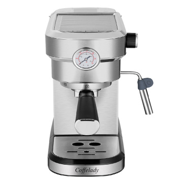 coffee maker with pressure meter