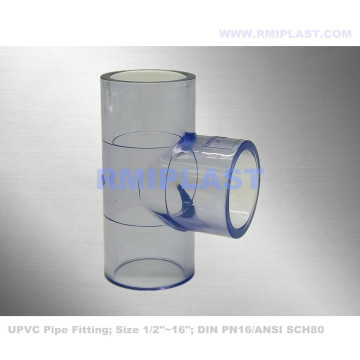 Clear PVC Pipe Fitting Equal Tee