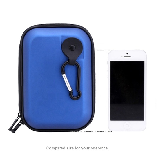 Dustproof eva storage case zip travel toothbrush case with carabiner