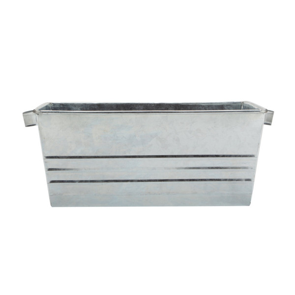 Square galvanized plant basin