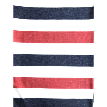 T/R/SP french terry stripe print kntted fabric