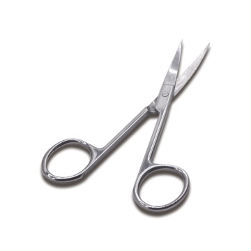 Custom Logo Stainless Steel Beauty Salon Eyelash Cutting Scissors