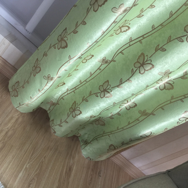 Green Butterfly Blackout Curtain Fabric