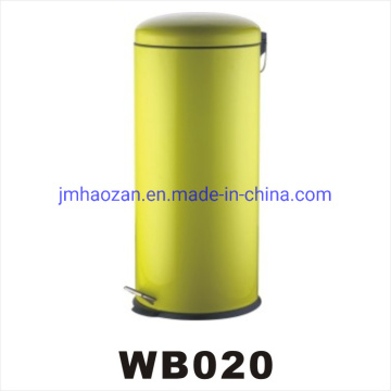 High Quality Stainless Steel Flat Lid Pedal Trash Bin, Dustbin