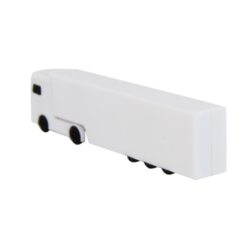 White Truck Usb Flash Drive with Customized Logo