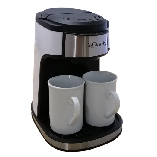 Double serve dual coffee machine