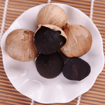 Organic single bulb Black Garlic with skin