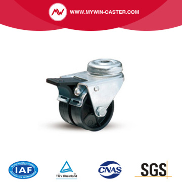 Braked Bolt Hole Twin Wheel PA Caster