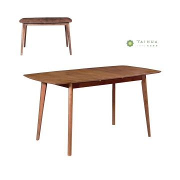 Economical Dark Walnut 1.6M Dining Table Solid Wood