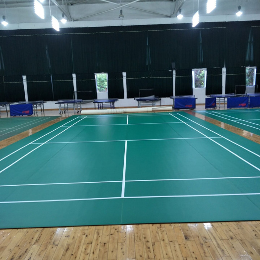 PVC badminton floor mats with BWF