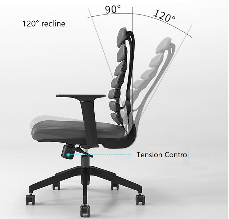 Adjustable Seat Height Ergonomic Computer Office Chair