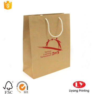 Eco-Friendly Brown Kraft Gift Paper Shopping Bag