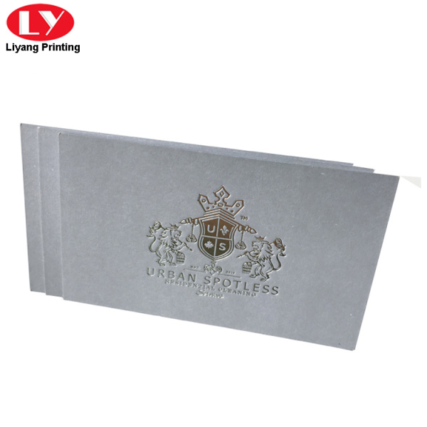 350gsm silver foil gray color business cards printing