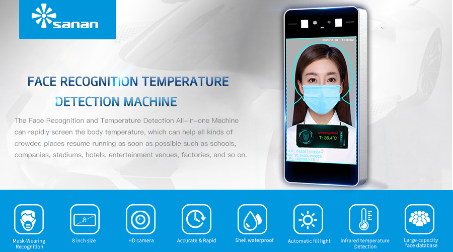 8 Inch Facial Recognition Thermometer