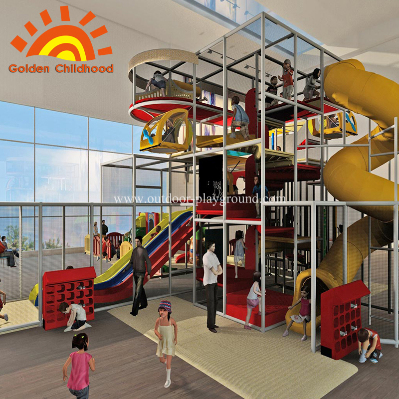 Large outdoor children playground equipment